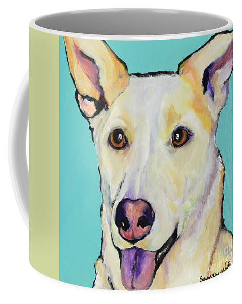 Dog Paintings Coffee Mug featuring the painting Bella by Pat Saunders-White