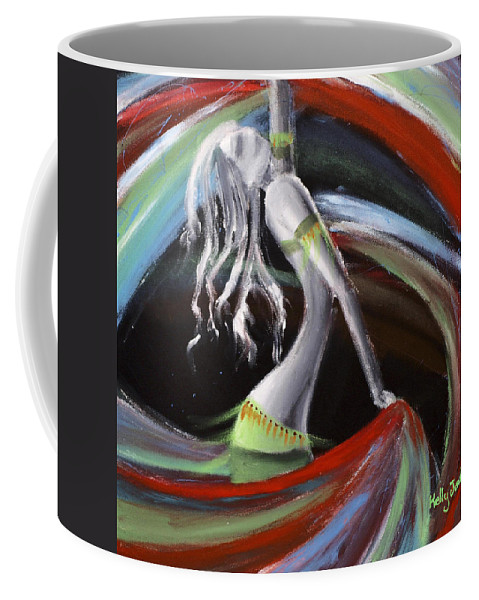 Colourful Coffee Mug featuring the painting Belly Dancer by Kelly Jade King