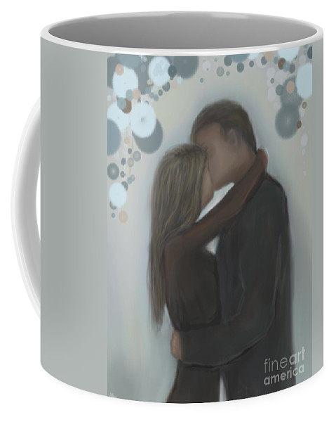 Couple Coffee Mug featuring the painting Belonging by Leslie Allen