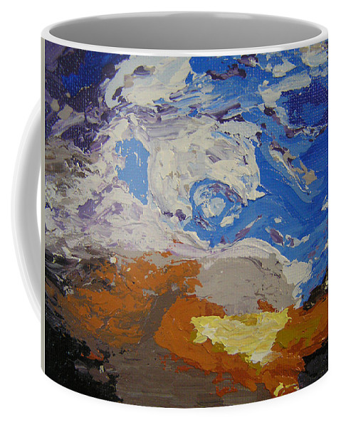 Sunset Coffee Mug featuring the painting Belonging by Ricklene Wren
