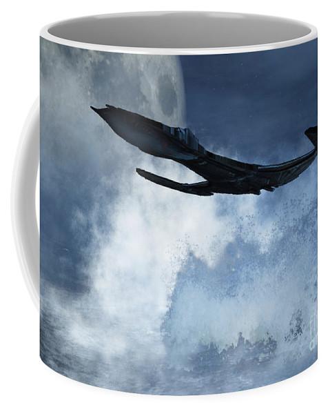 Flight Coffee Mug featuring the digital art Below Radar by Richard Rizzo