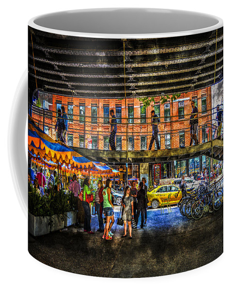 New York Coffee Mug featuring the photograph Below The High Line by Jeff Watts