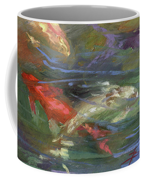 Plein Air Coffee Mug featuring the painting Below The Surface by Betty Jean Billups