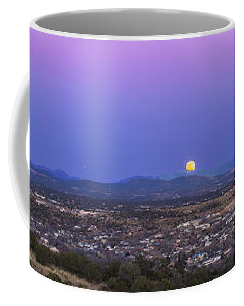 Belt Of Venus Coffee Mug featuring the photograph Belt Of Venus And Full Moon Rising by Alan Dyer