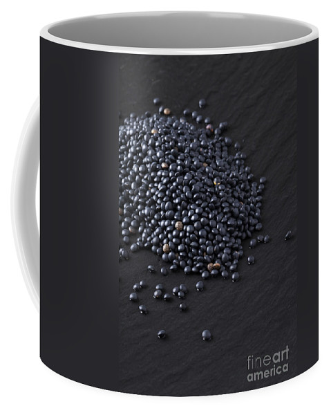 Photograph Coffee Mug featuring the photograph Beluga Lentils by Julie Woodhouse
