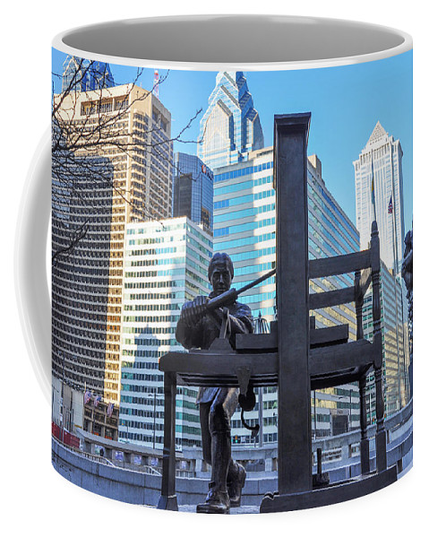 Ben Coffee Mug featuring the photograph Ben Franklin Printing Press - Philadelphia by Bill Cannon