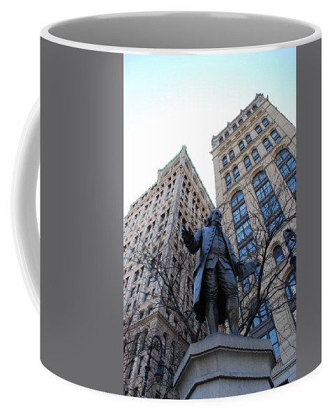 Architecture Coffee Mug featuring the photograph Ben Franklin by Rob Hans