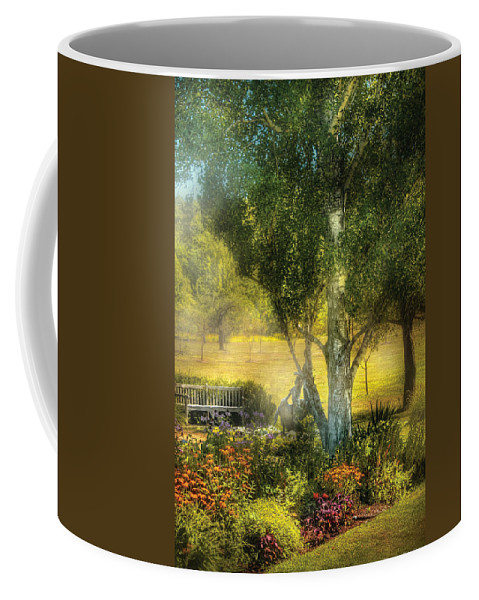 Savad Coffee Mug featuring the photograph Bench - I Had This Dream And It All Began by Mike Savad