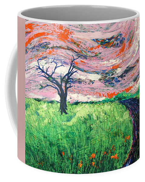 Landscape Coffee Mug featuring the painting Bend by Rollin Kocsis