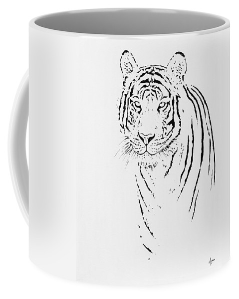Wildlife Coffee Mug featuring the painting Bengal Tiger by Andrea Angulo