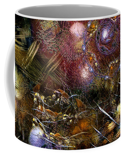 Abstract Coffee Mug featuring the digital art Benighted Bedlam by Casey Kotas