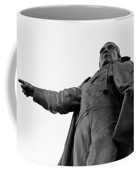 Benito Coffee Mug featuring the photograph Benito Juarez Statue by Cora Wandel