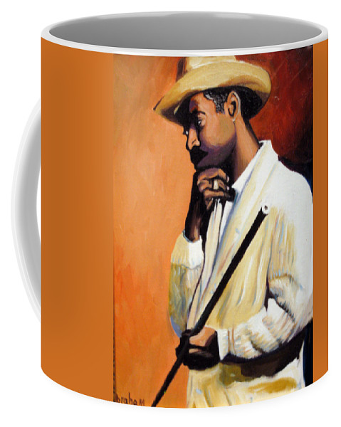 Cuban Art Coffee Mug featuring the painting Benny 2 by Jose Manuel Abraham