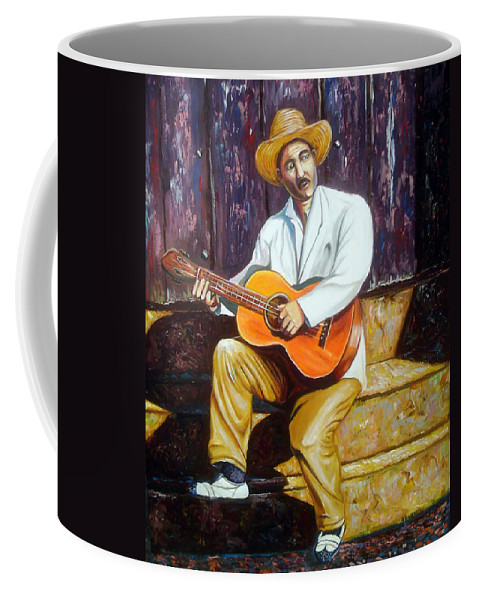 Cuban Art Coffee Mug featuring the painting Benny by Jose Manuel Abraham