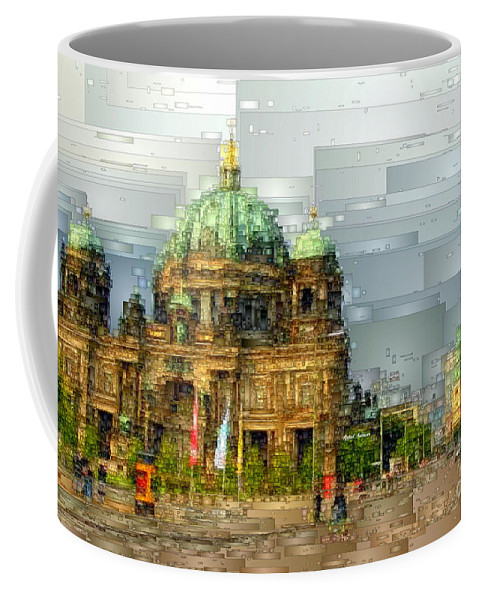 Rafael Salazar Coffee Mug featuring the digital art Berlin Cathedral by Rafael Salazar