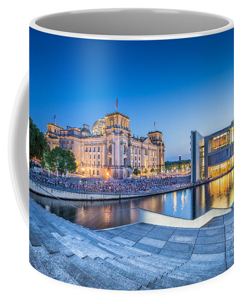 Architecture Coffee Mug featuring the photograph Berlin Government District by JR Photography