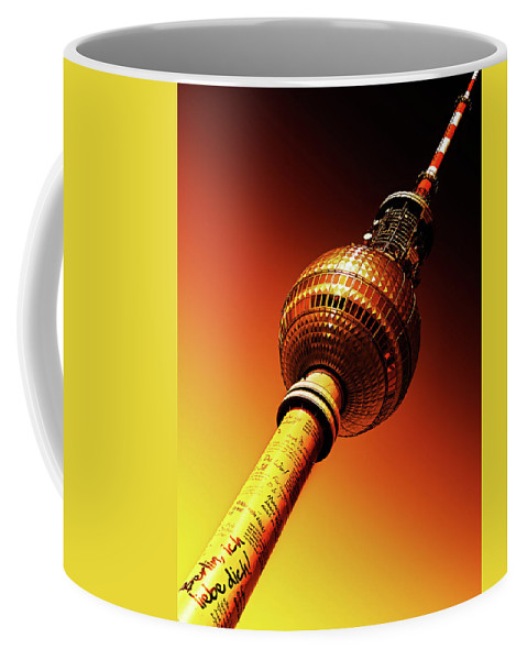 Berlin Coffee Mug featuring the photograph Berlin Television Tower - Berlin I Love You by Alexander Voss
