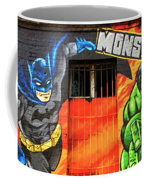 Berlin Wall Monsta Door Coffee Mug featuring the photograph Berlin Wall Monsta Door by John Rizzuto