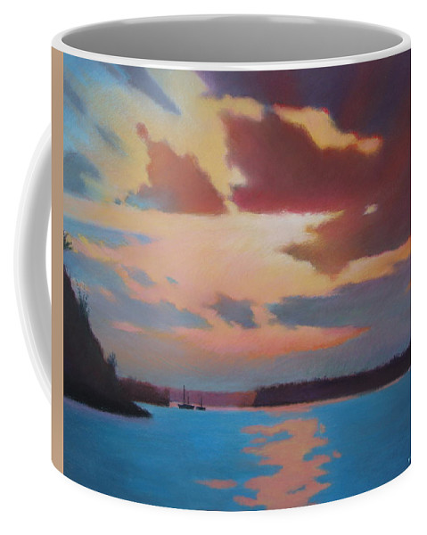 Bermuda Seascape Coffee Mug featuring the painting Bermuda Sunset by Dianne Panarelli Miller