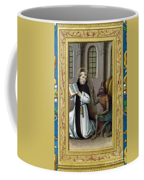 Aod Coffee Mug featuring the painting Bernard De Clairvaux by Granger