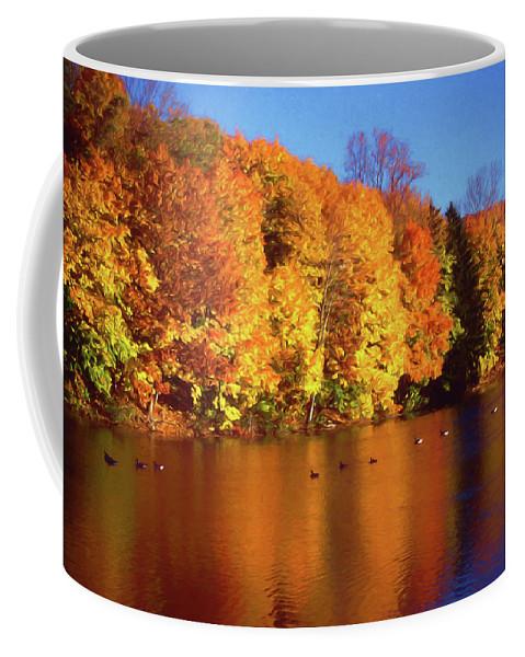 Bernharts Dam Coffee Mug featuring the photograph Bernharts Dam Fall 008 by Scott McAllister