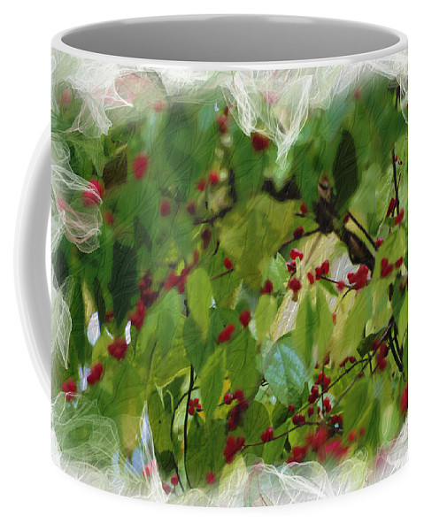 Berries Coffee Mug featuring the photograph Berries And Leaves 51 by Ericamaxine Price