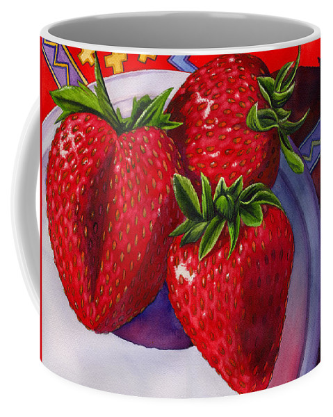 Strawberries Coffee Mug featuring the painting Berry Berry Berry Good by Catherine G McElroy