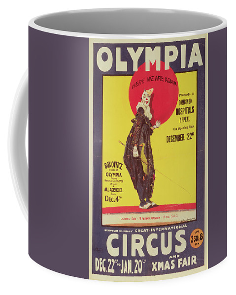 Bertram Mills Circus Poster Coffee Mug featuring the painting Bertram Mills Circus Poster by Dudley Hardy