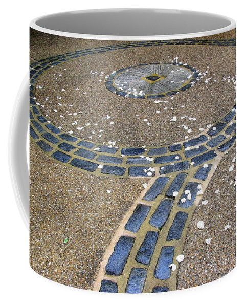Hardscape Coffee Mug featuring the photograph Bespeckled Walkway by Deborah Crew-Johnson