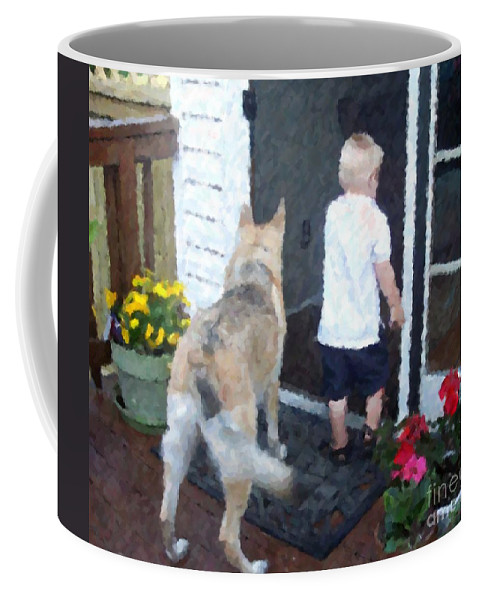 Dogs Coffee Mug featuring the photograph Best Friends by Debbi Granruth
