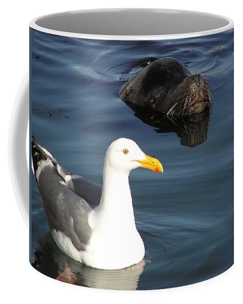 Seagull Coffee Mug featuring the photograph Best Friends by Louise Magno