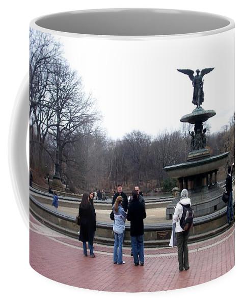 Bethesda Fountain Coffee Mug featuring the photograph Bethesda Fountain by Anita Burgermeister