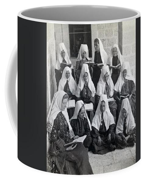 Bethlehem Coffee Mug featuring the photograph Bethlehem Women School 1900s by Munir Alawi