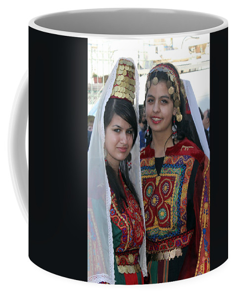 Bethlehem Coffee Mug featuring the photograph Bethlehem Young Girls by Munir Alawi