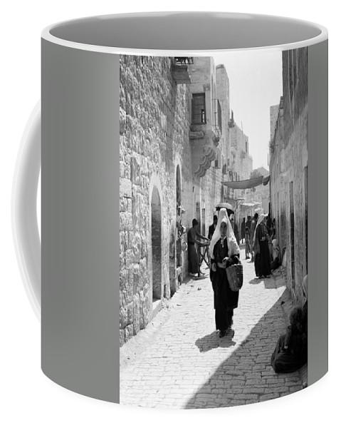Bethlehem Coffee Mug featuring the photograph Bethlehemite Going To The Market by Munir Alawi