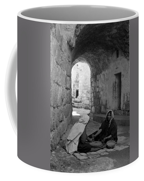 Bethlehem Coffee Mug featuring the photograph Bethlehemites Making Bread by Munir Alawi