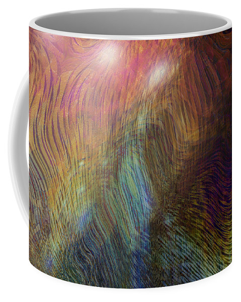 Abstract Art Coffee Mug featuring the digital art Between The Lines by Linda Sannuti