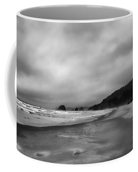 Oregon Coast Coffee Mug featuring the photograph Beyond by Don Schwartz