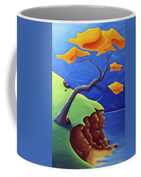 Landscape Coffee Mug featuring the painting Beyond Limitations by Richard Hoedl