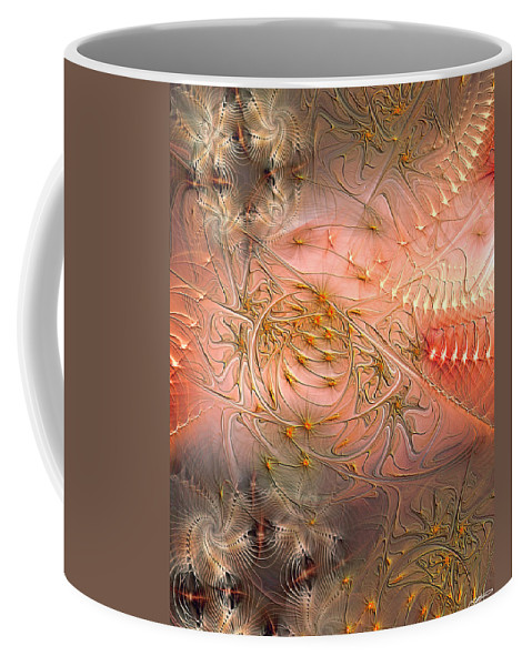 Abstract Coffee Mug featuring the digital art Beyond Solipsism by Casey Kotas