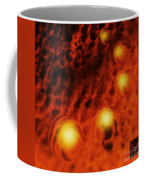 Colorful Coffee Mug featuring the photograph Beyond The Fires by Dale Crum