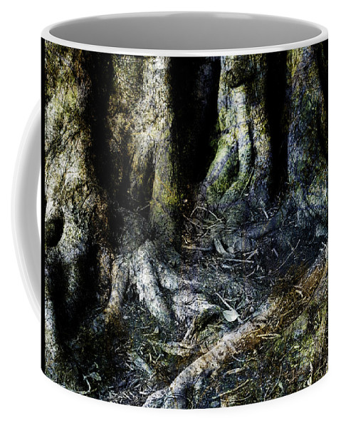 Tree Coffee Mug featuring the photograph Beyond The Forest Edge by Kelly Jade King