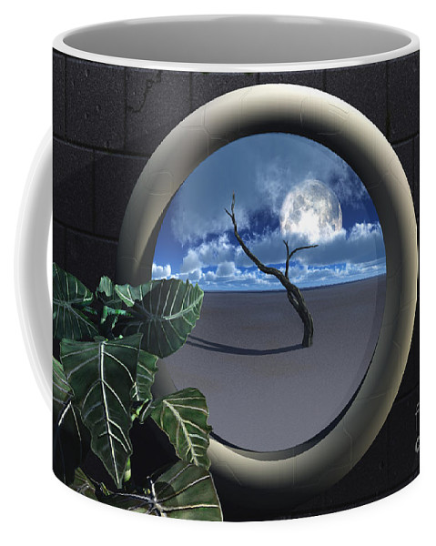 Walls Coffee Mug featuring the digital art Beyond Walls by Richard Rizzo