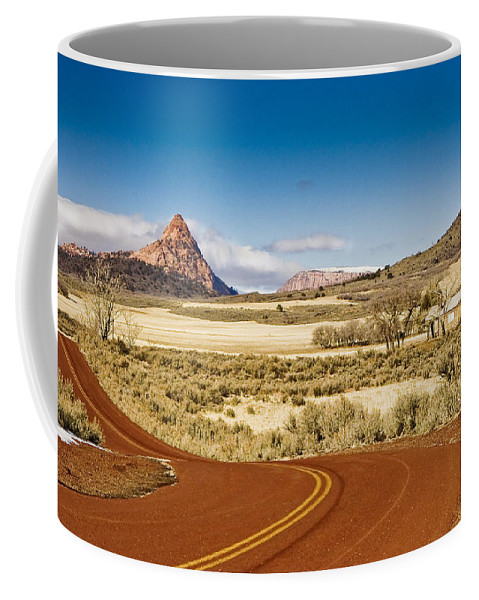 Landscape Coffee Mug featuring the photograph Beyond Zion by Ches Black