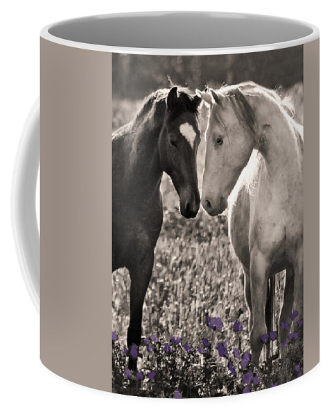 Wildlife Coffee Mug featuring the photograph B F F by Sally Linden