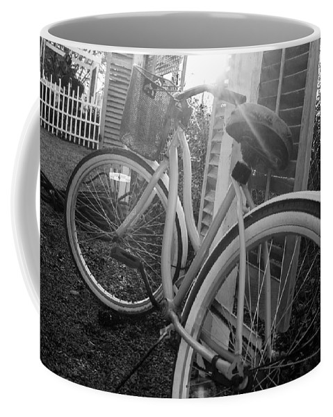 Bicycle Coffee Mug featuring the photograph Bicycle In The Sun by Nick LabyrinthX