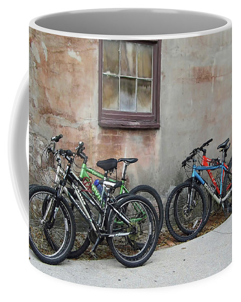 Bike Coffee Mug featuring the photograph Bicycle Parking by D Hackett