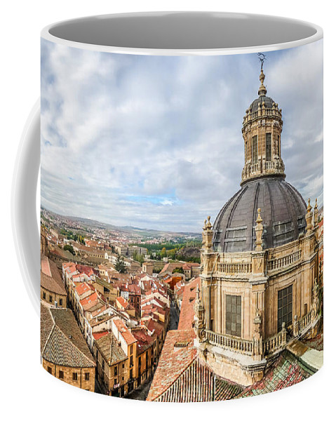 Ancient Coffee Mug featuring the photograph Bierdview Of Historic City Of Salamanca by JR Photography