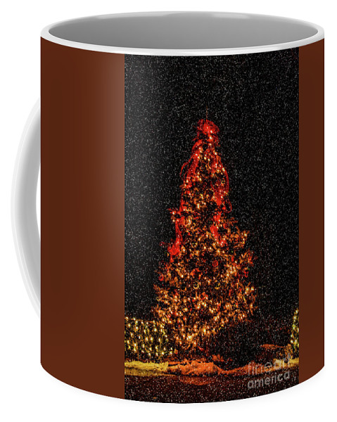 Big Bear Coffee Mug featuring the photograph Big Bear Christmas Tree by Tommy Anderson