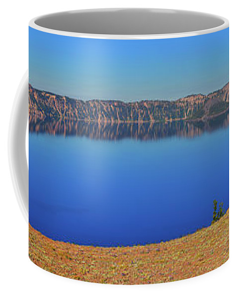 Crater Lake Coffee Mug featuring the photograph Big Blue by Greg Norrell